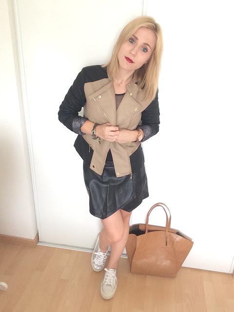 Look body & perfecto bicolore - La Petite Frenchie