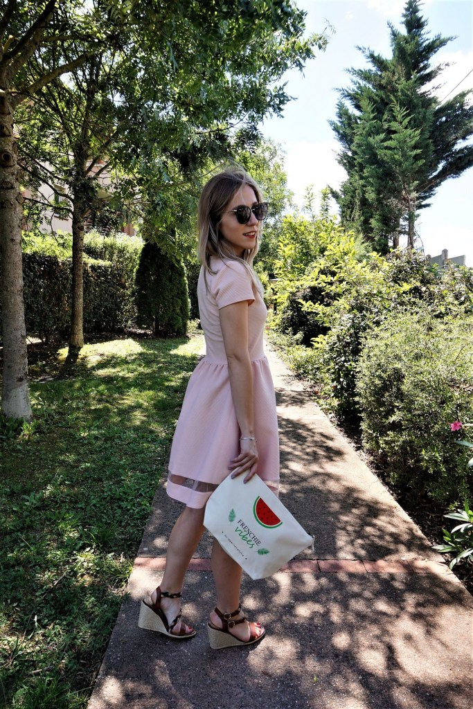 Look robe rose - La Petite Frenchie