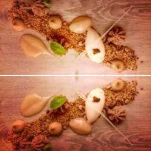 Speculoos, Pear, Chestnut dessert from La Table du Sommelier