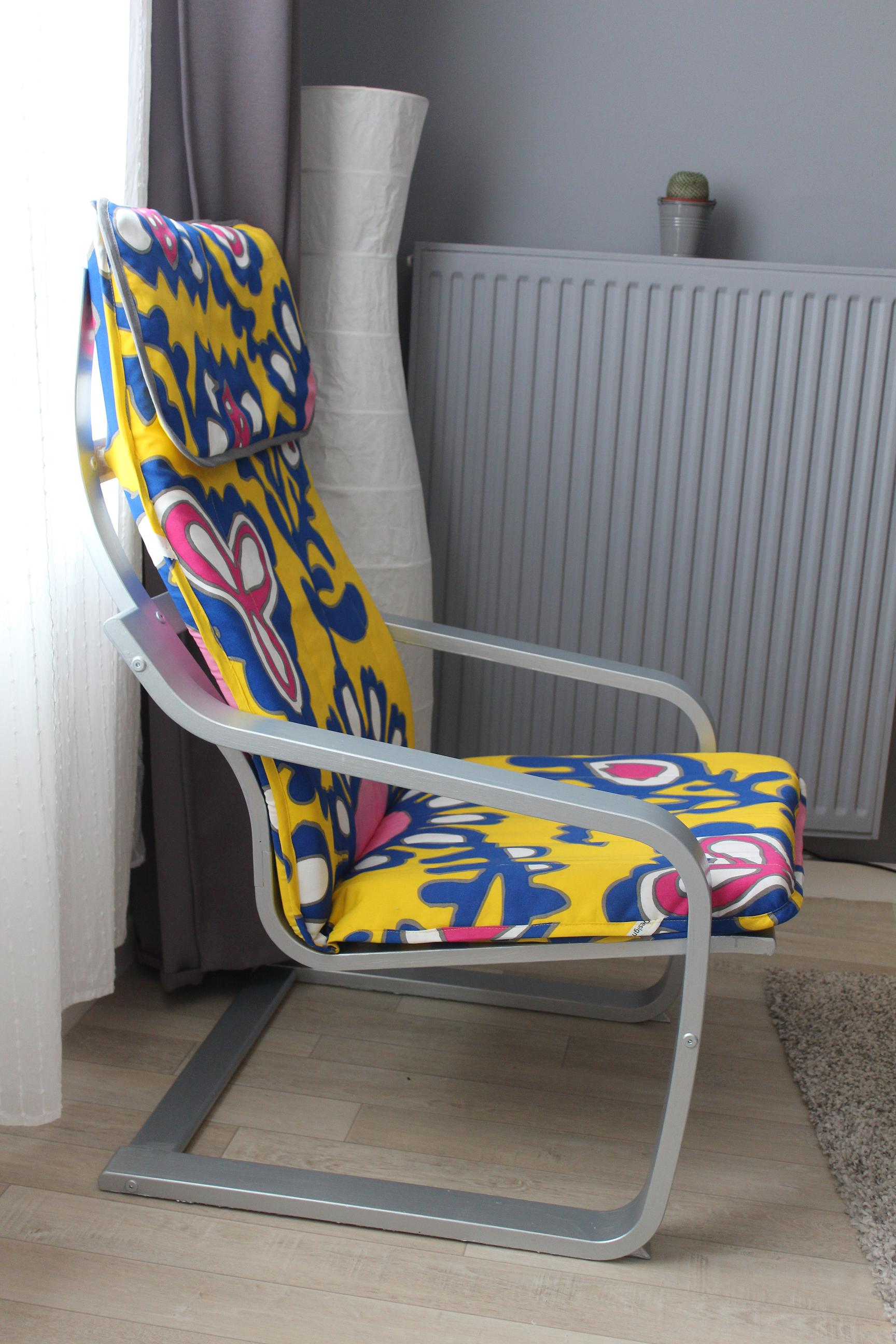ikea poang chair cover upholstered dining room hacking -fauteuil poäng | lapetitemaisoncouture