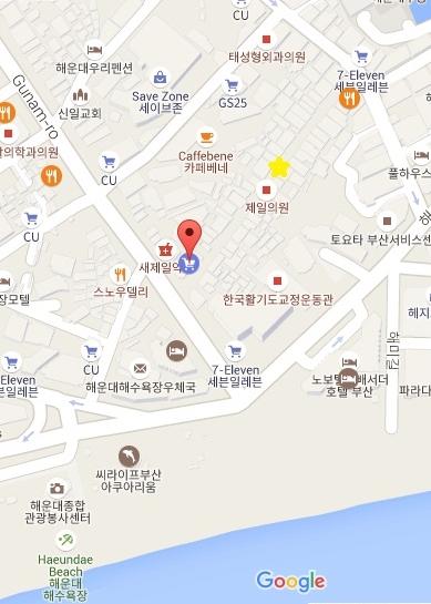 Haeundae Market map