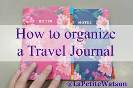 How to / DIY organized a simple easy travel journal