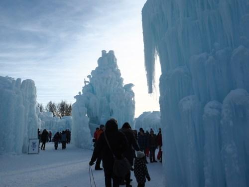 Ice Castle in Edmonton