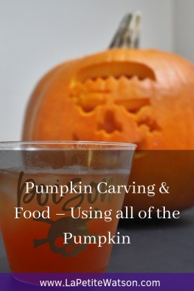 Pumpkin Carving & Food La Petite Watson. Fun way to use all of the pumpkin for Halloween