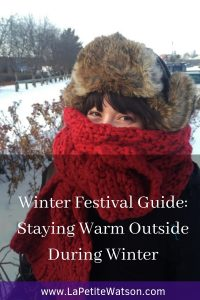 Staying Warm Outside During Winter in Canada at  La Petite Watson. How to dress for +5C to -17C