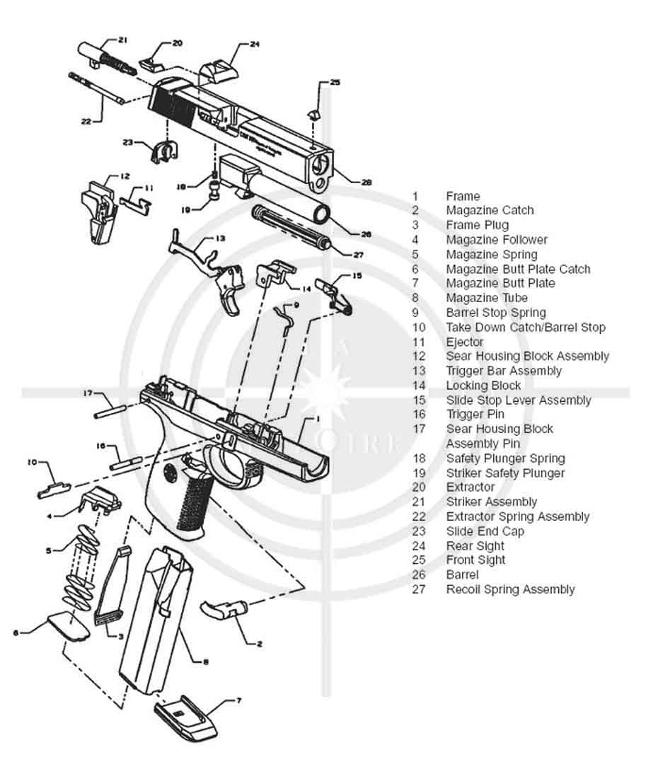 [DIAGRAM NY_8861] Glock Parts Exploded View Diagram HD Quality