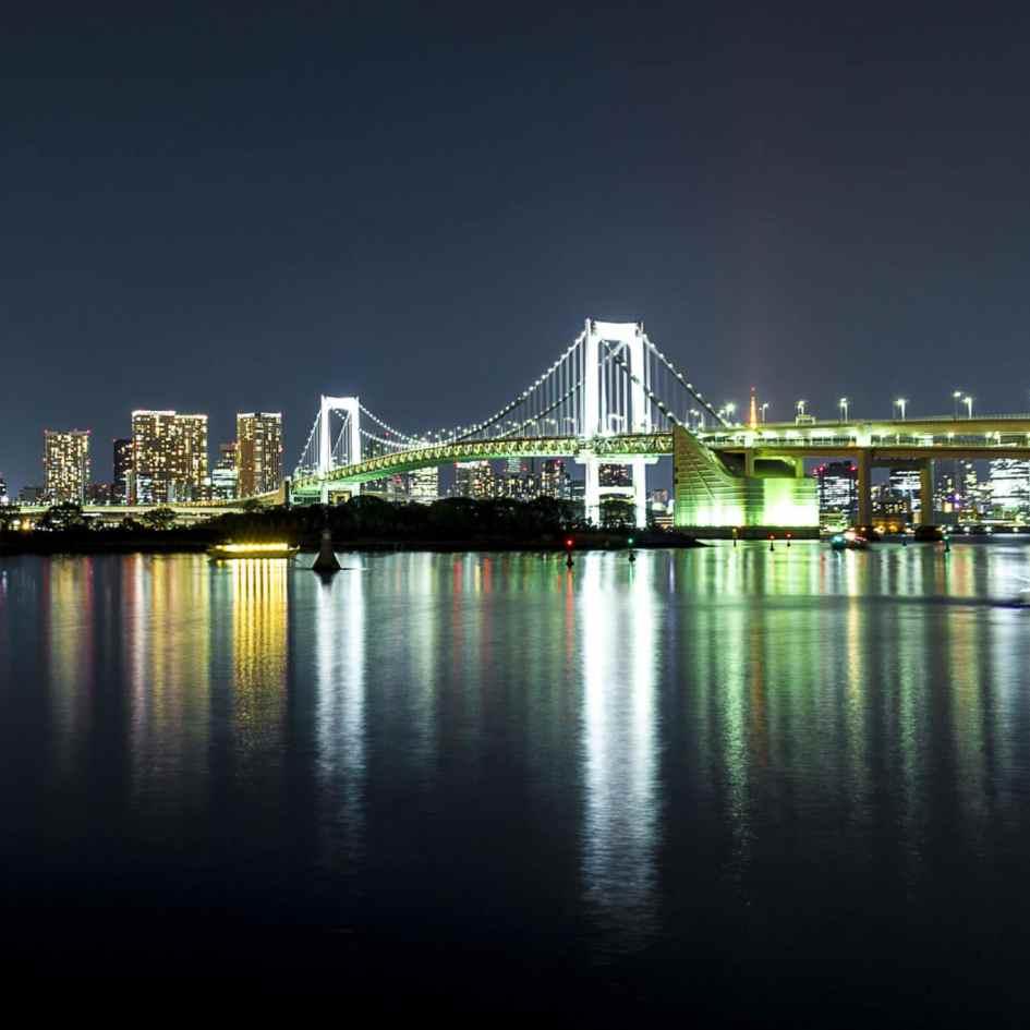 Photographie de la ville de Tokyo de nuit