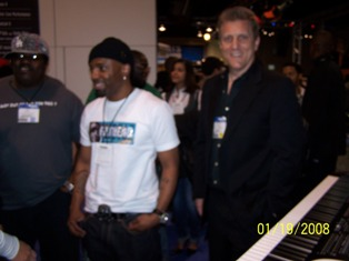 Teddy Riley & John Sawoski at NAMM 2008