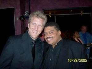 John Sawoski and Clent Bowers after Clent's cabaret show.