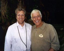 John Sawoski with Dick Van Dyke, before a concert