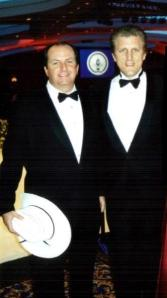 With tenor Dennis McNeil at the first inaugural of George W. Bush.