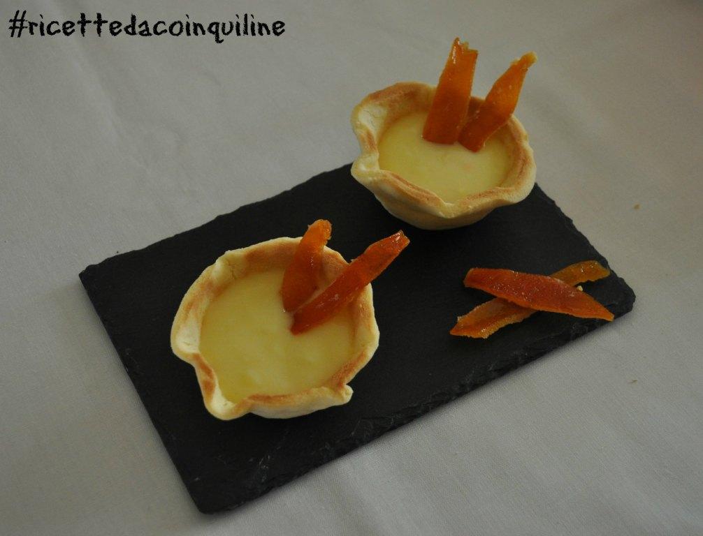 Crostatine con crema all'arancia (senza glutine e senza uova)