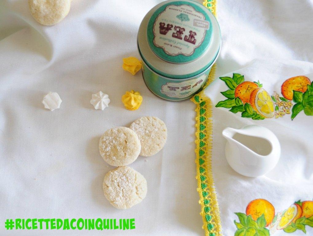 Lemon Crinkle Cookies (senza lattosio e senza uova)