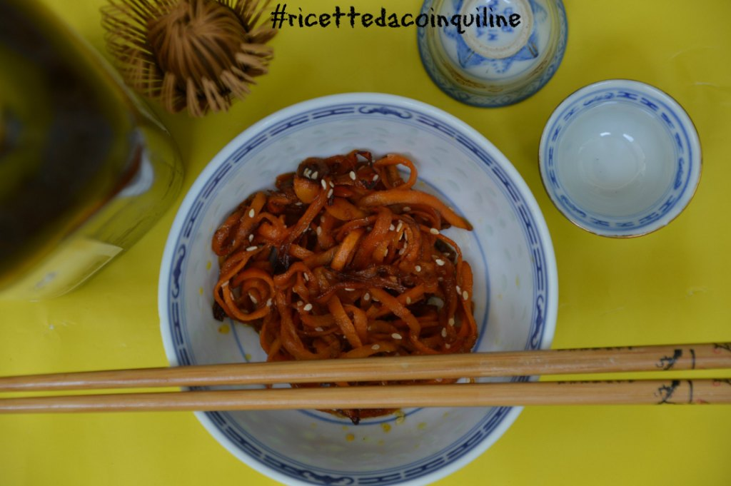 I sani venerdì: spaghetti di carote all'orientale