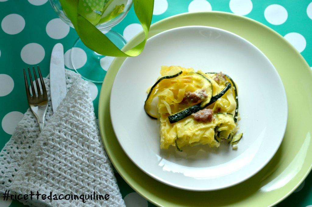Timballo di pasta con zucchine e ricotta