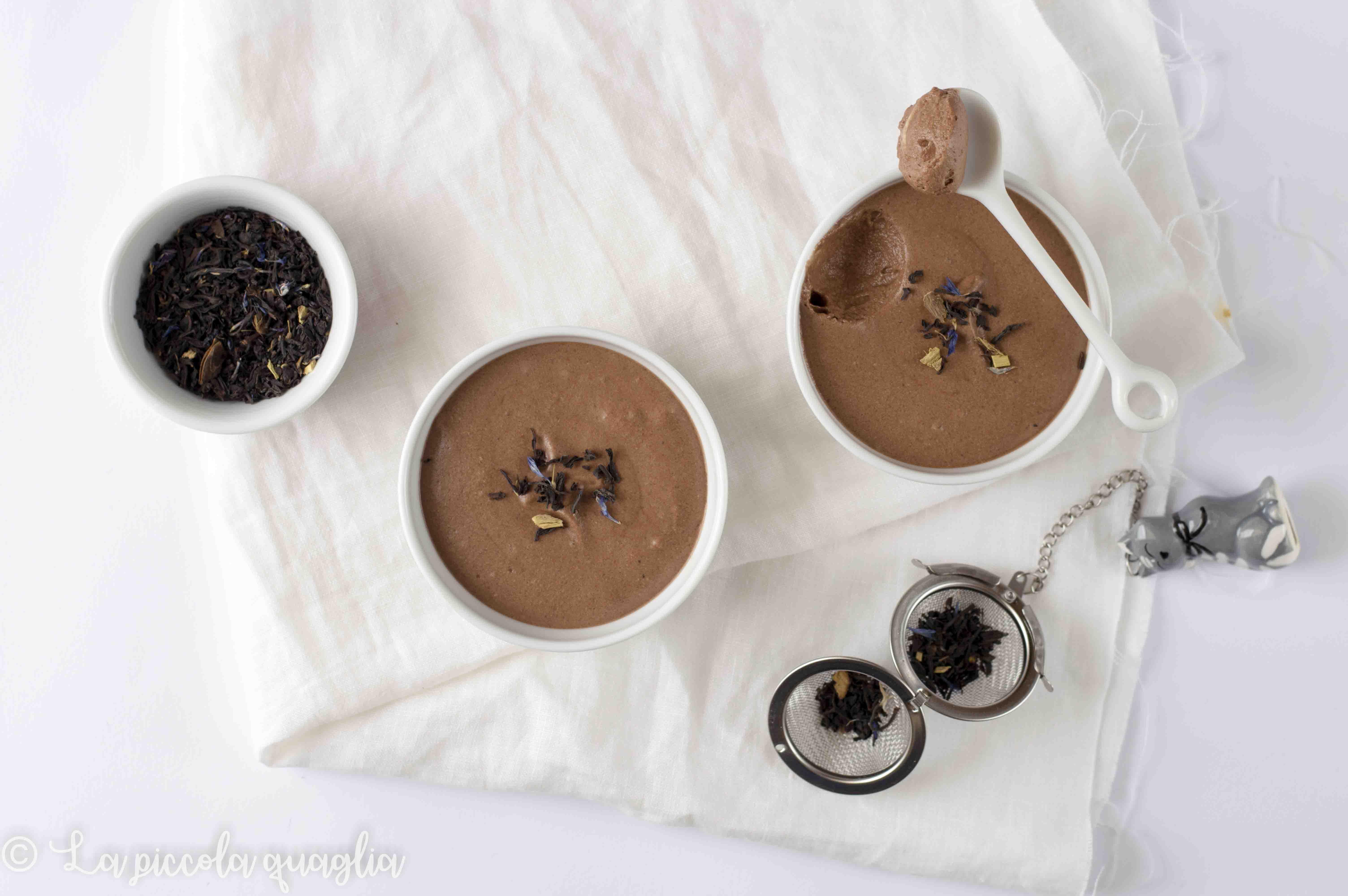 L'angolo del tè: mousse al cioccolato e tè alla liquirizia