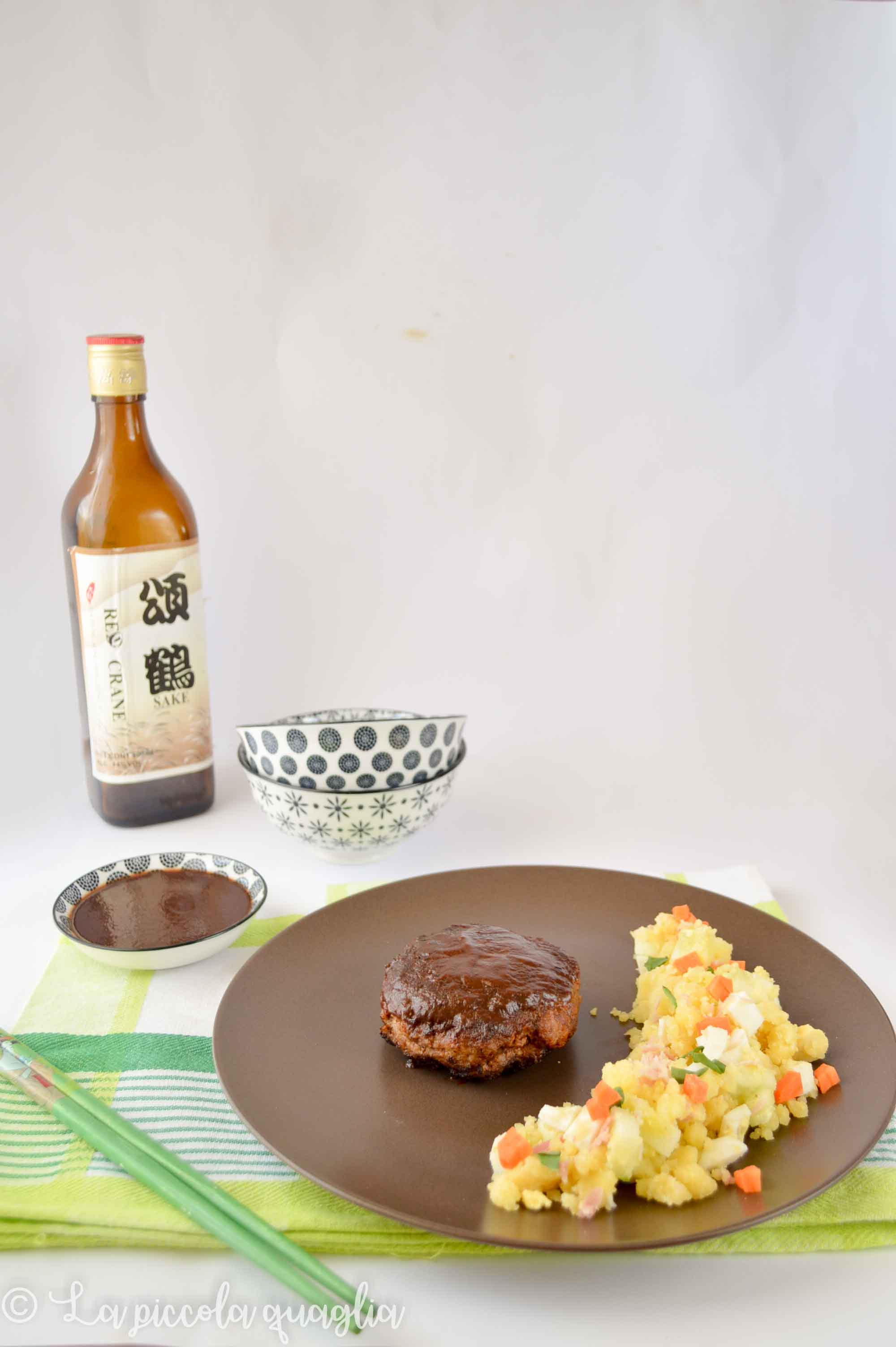 Geek Chicken: hamburger & insalata di patate alla giapponese #Yotsuba&!