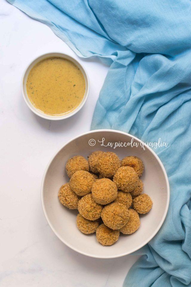 polpette di lenticchie e salsa al curry