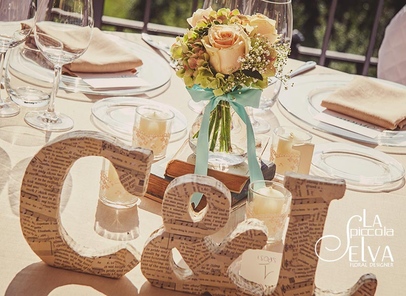 Fiori matrimonio Shabby Chic a Villa Pestalozza