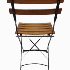 French Brasserie Chairs Scandinavian Design Wood Bistro Metal Folding Chair