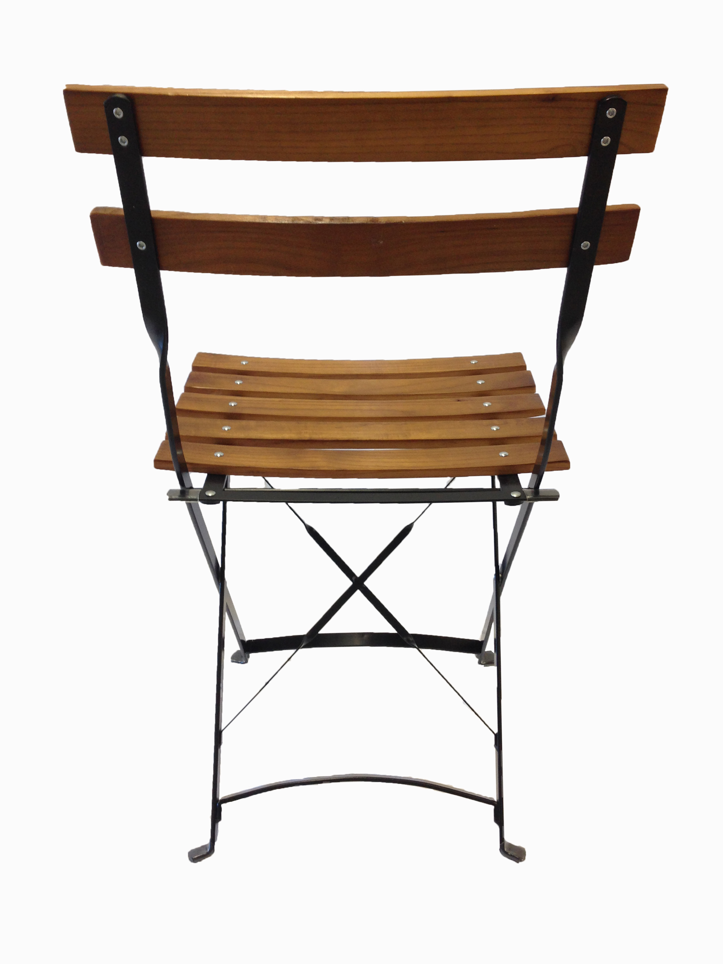 French Bistro Chair French Bistro Metal Wood Folding Chair