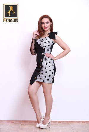 Code_[Mena821]_Short_dress_with_sleeve_shoulder_and_tie_strap