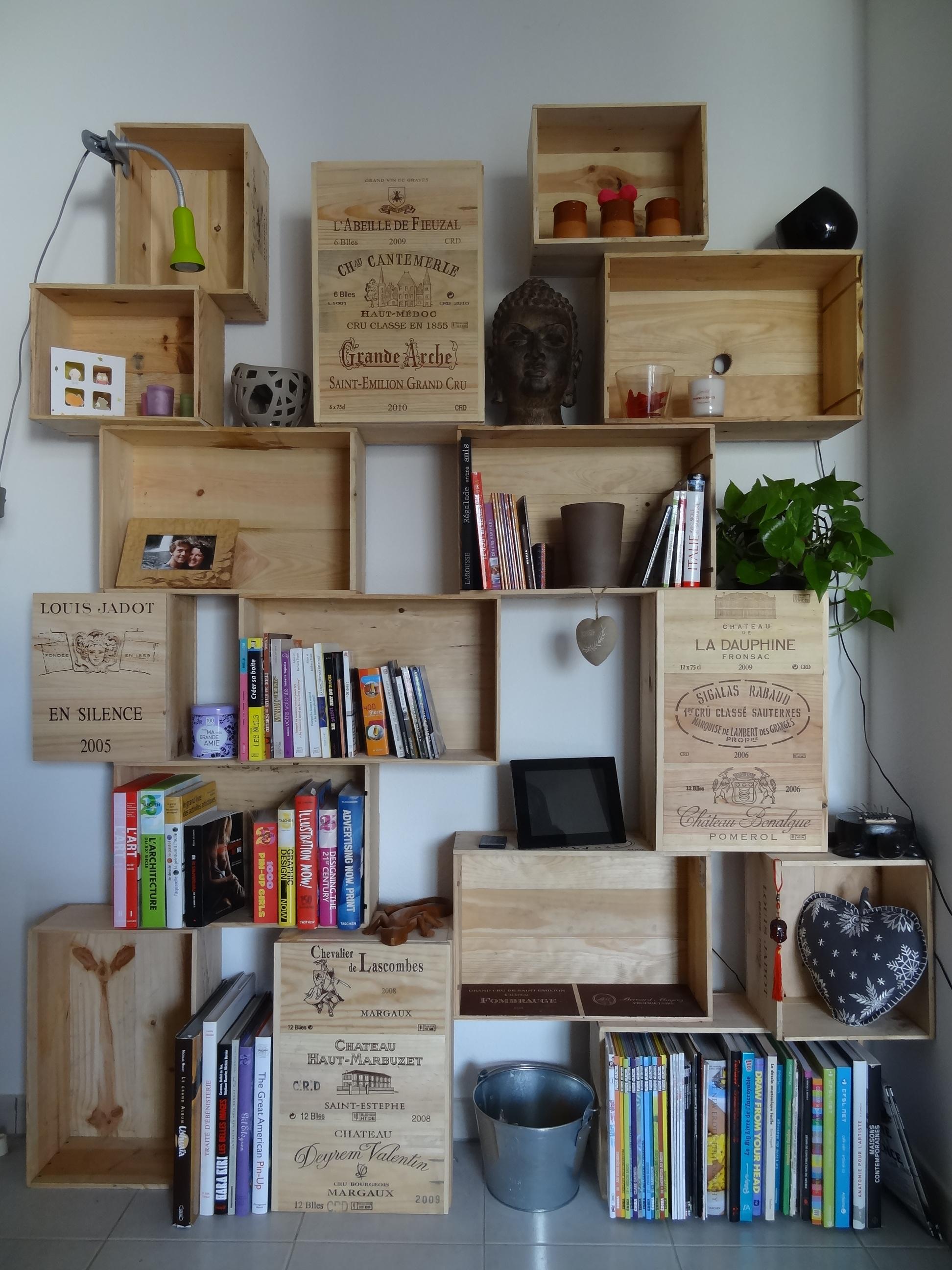 faire un meuble avec des caisses a vin