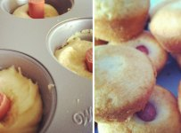 Muffins hot dog