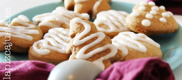 galletas de jengibre glaseadas