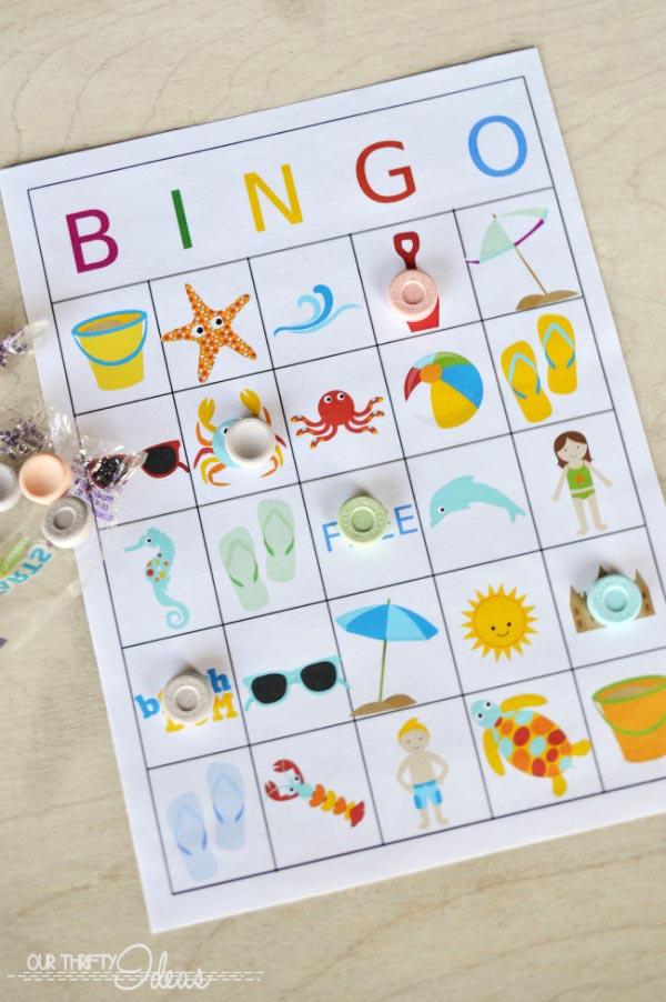 bingo de verano para descargar
