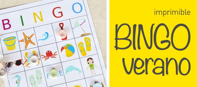 Este verano, ¡no te quedes sin el Bingo imprimible!