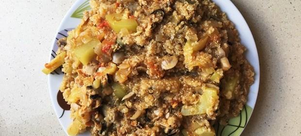 quinoa con verduras al escabeche