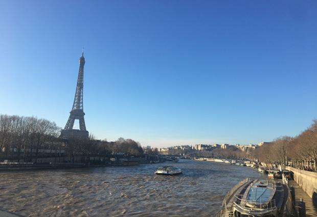 Vista de la Torre desde el puente, Paris