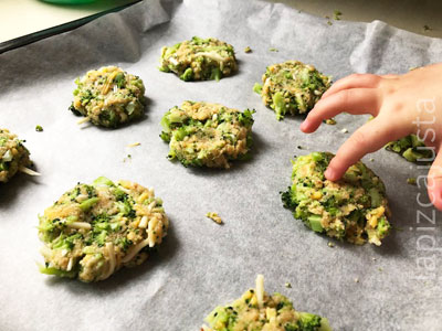 nuggets de brócoli listos para hornear