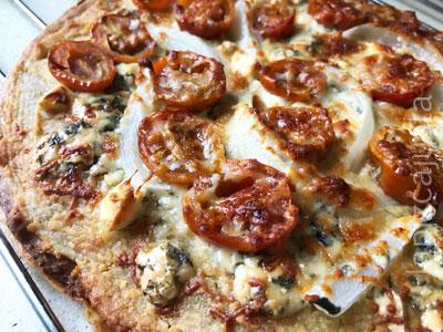 pizza con base de quinoa