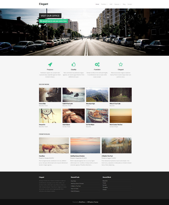 Elegant – Free Responsive Business Portfolio WordPress Theme