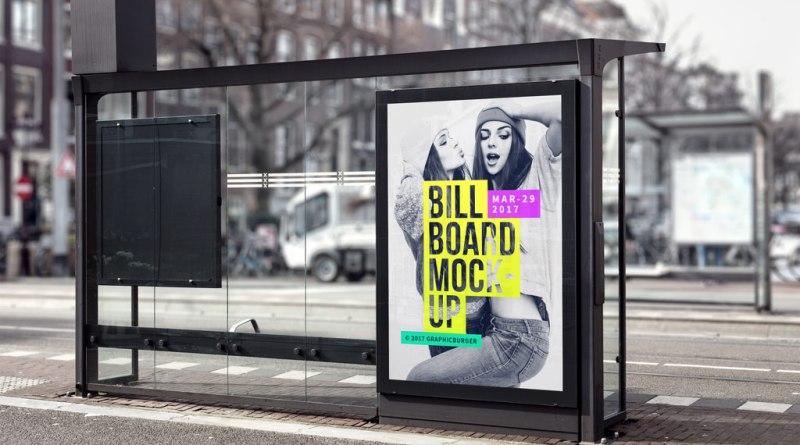 Bus Stop MockUp Gratis