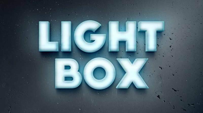 Efecto de texto Lightbox