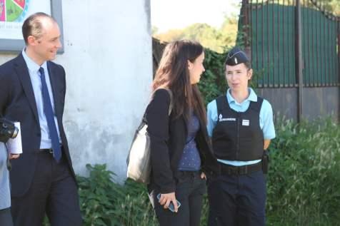 Le sous-préfet, Benoît Rochas et la commandant Audrey Cagnon, ont supervisé l'opération de contrôle des automobiliste.