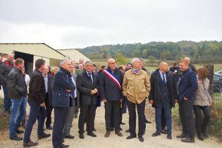 Les élus vosgiens dans l'attente de l'arrivée du ministre de l'agriculture, Didier Guillaume.
