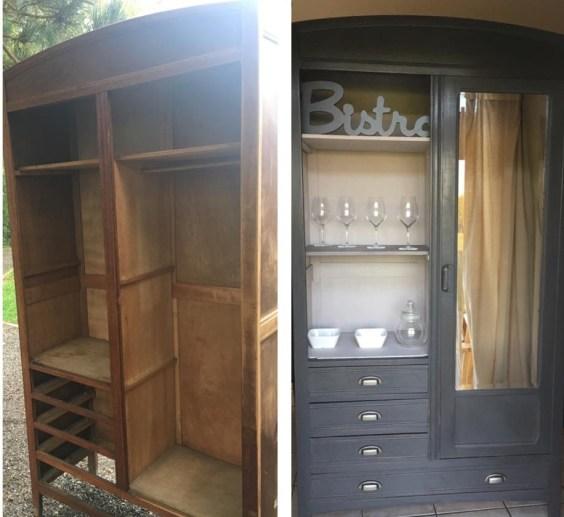 Exemple de restauration de mobilier.