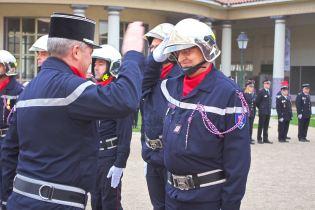 Promu au grade de sergent-chef, Jean-Paul Lallemand (CIS Mandres-sur-Vair).