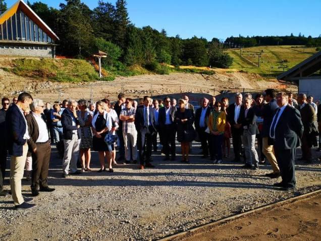 Un nombre impressionnants d'élus étaient présents à cette réception des travaux au col de la Schlucht.
