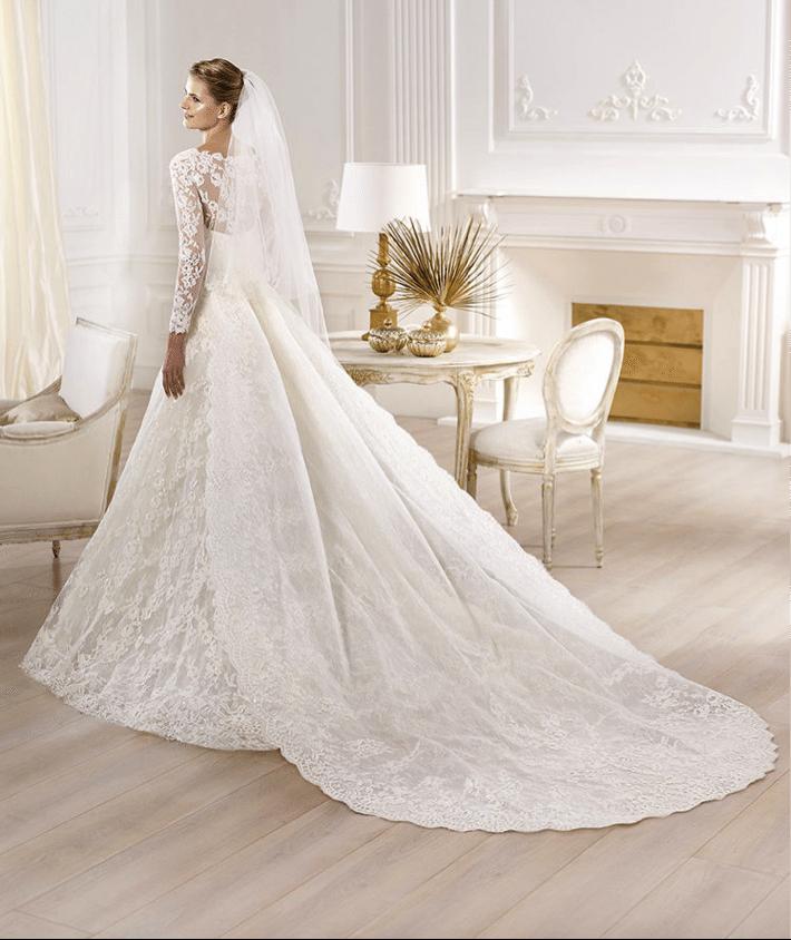 Cauda vestido de novia