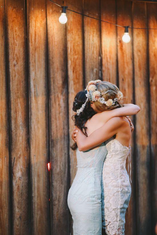 hermana en el día de su boda