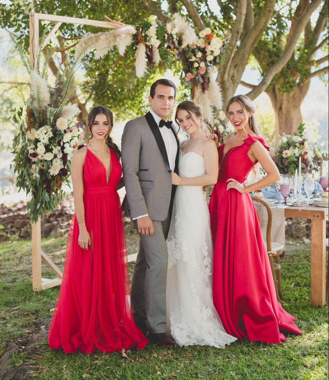 e6e3a98903 Damas de honor en color Rojo 13