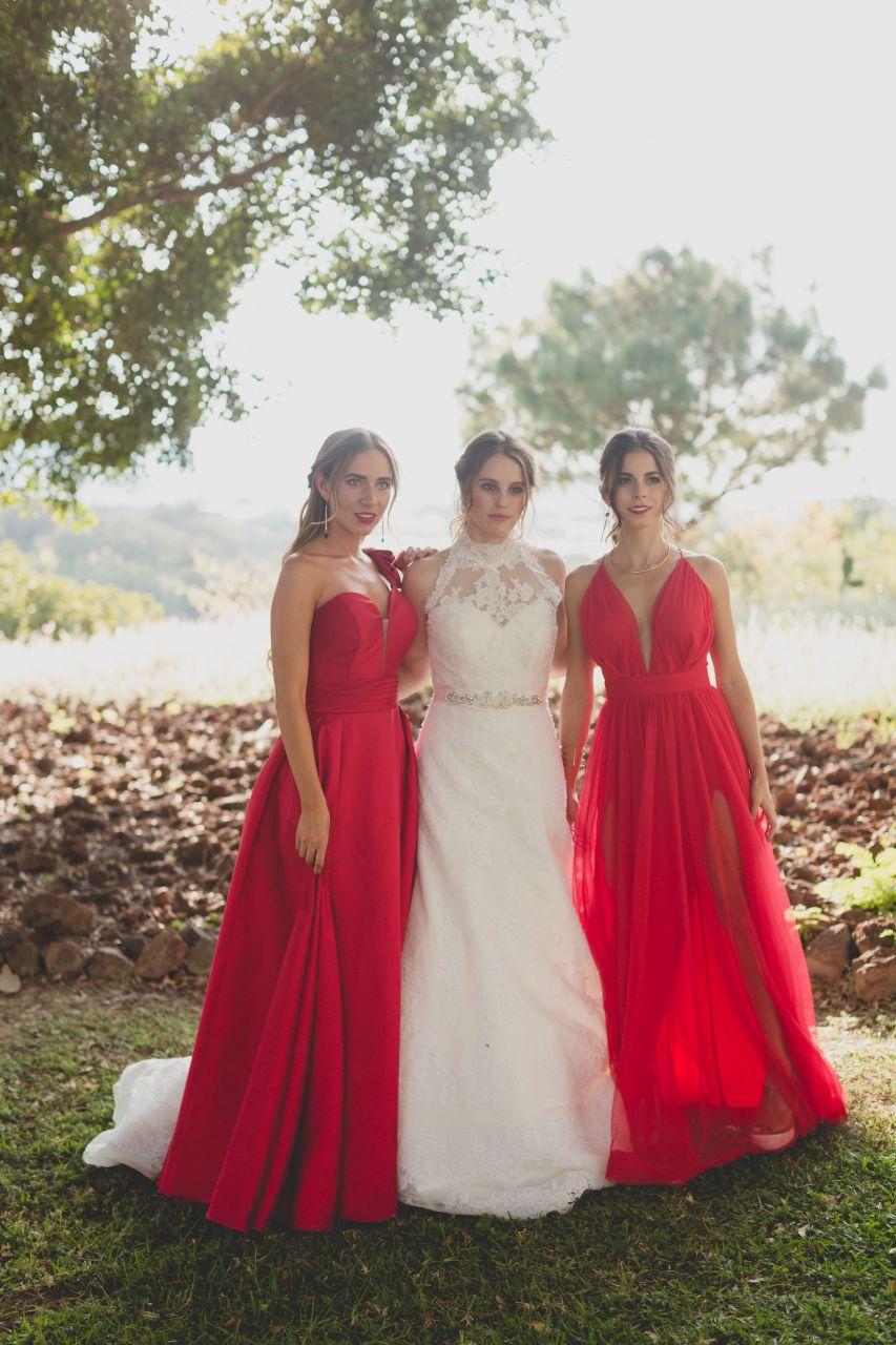 ae2f3faf6b Damas de honor en color Rojo 12