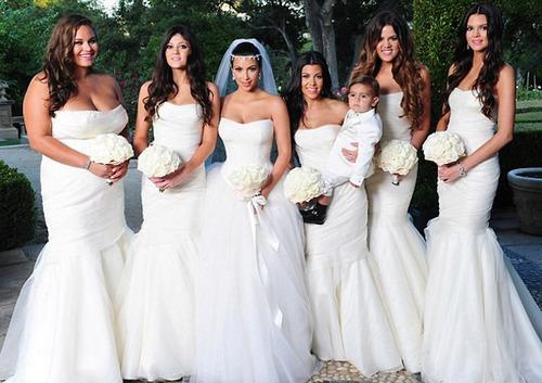 vestido de novia khloe kardashian