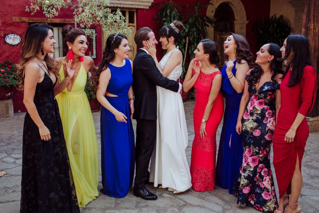 Boda con color y alegría: Ximena y Spencer