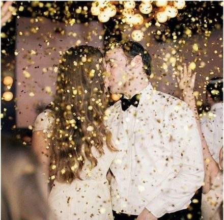 Maneras de aplicar glitter en tu concepto de boda